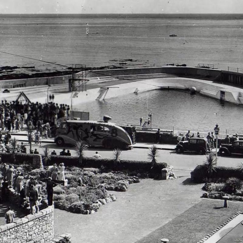 Old picture of the pool