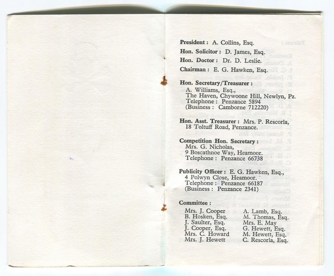 Membership card page 1