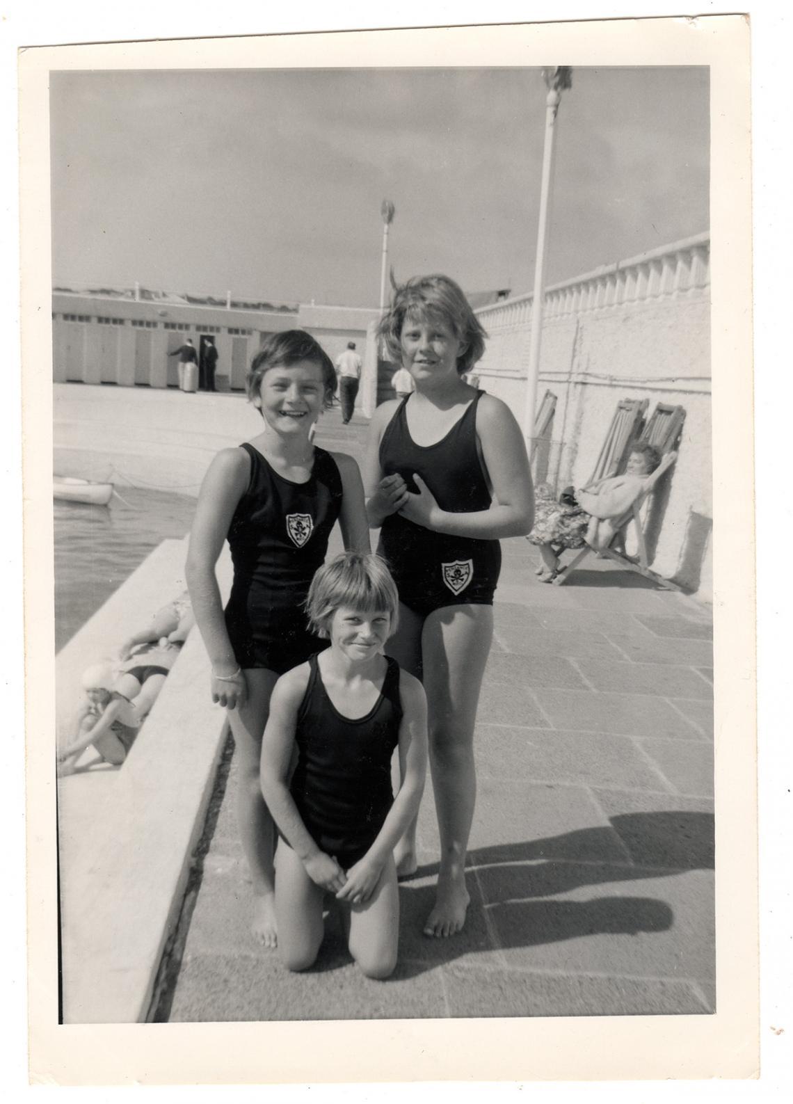 Elizabeth Glover (nee Cooper), Liz Jilbert and Judith Tresidder
