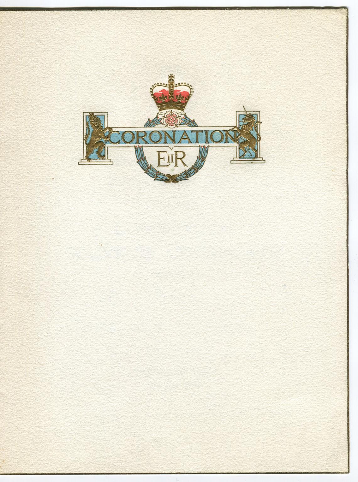Coronation souvenir certificate