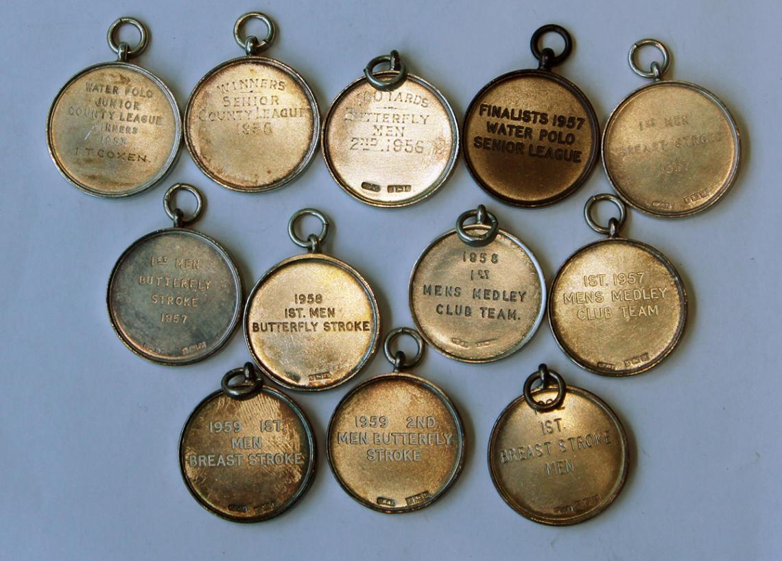 Medals for water polo and swimming
