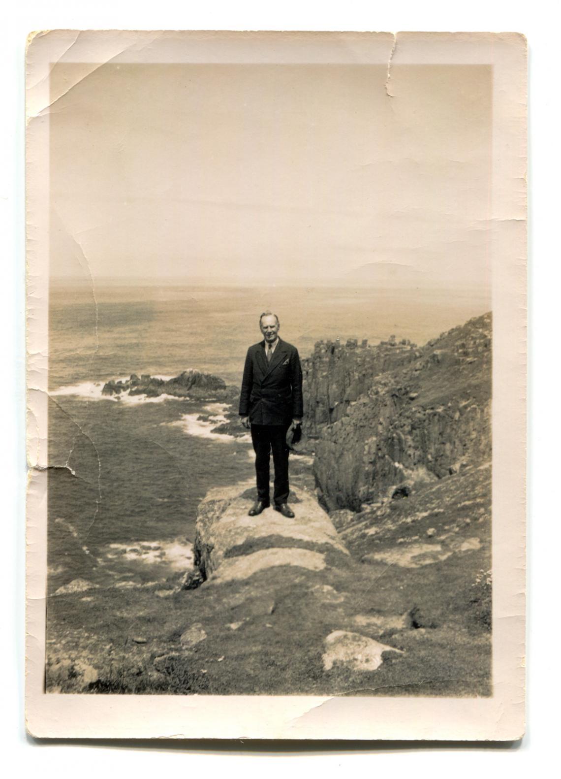 Frank Latham at Land's End