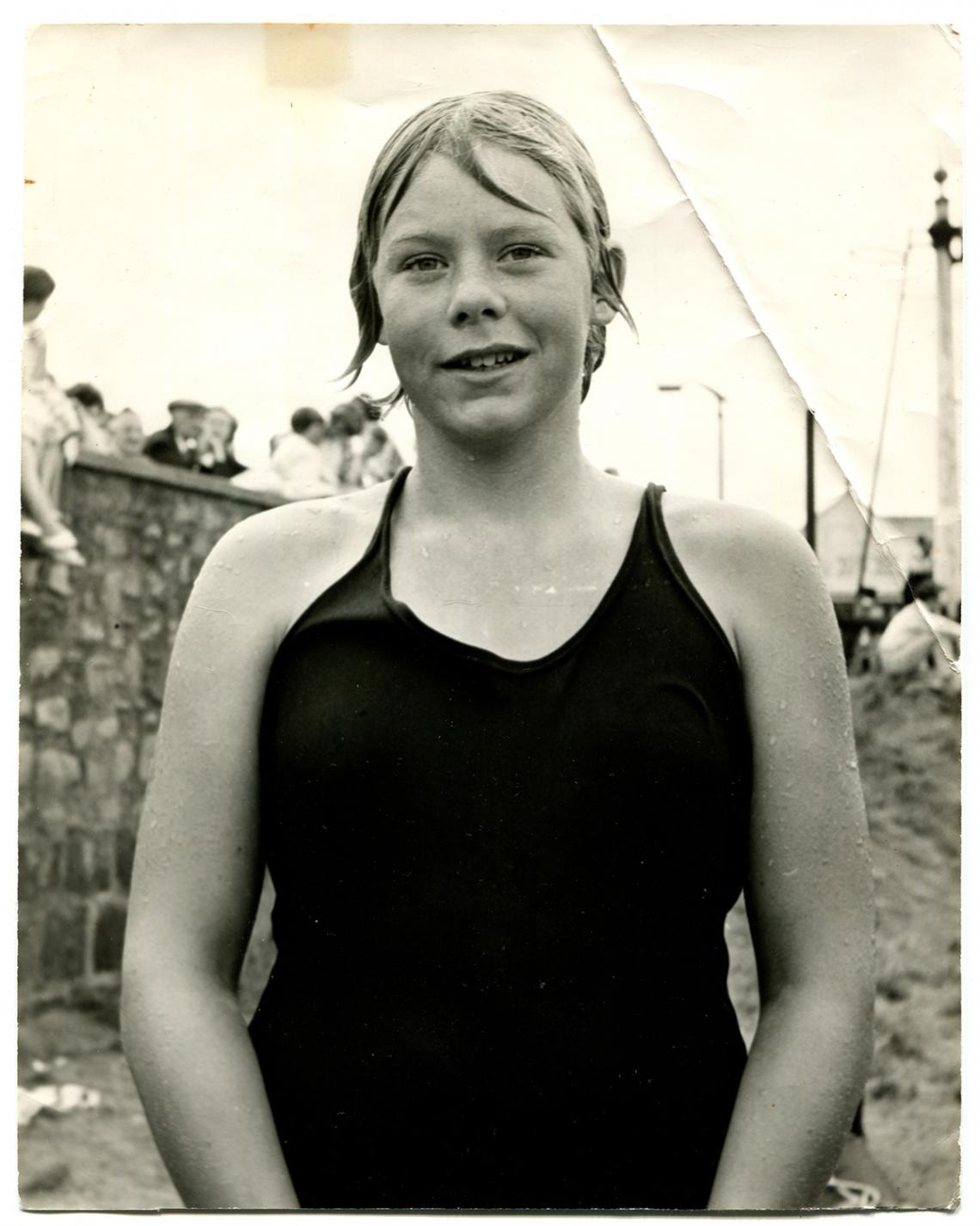 Wendy Tresidder after swimming