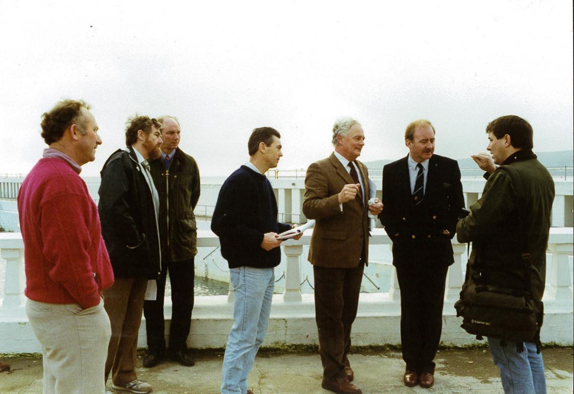 Meeting at Jubilee Pool with John Clarke