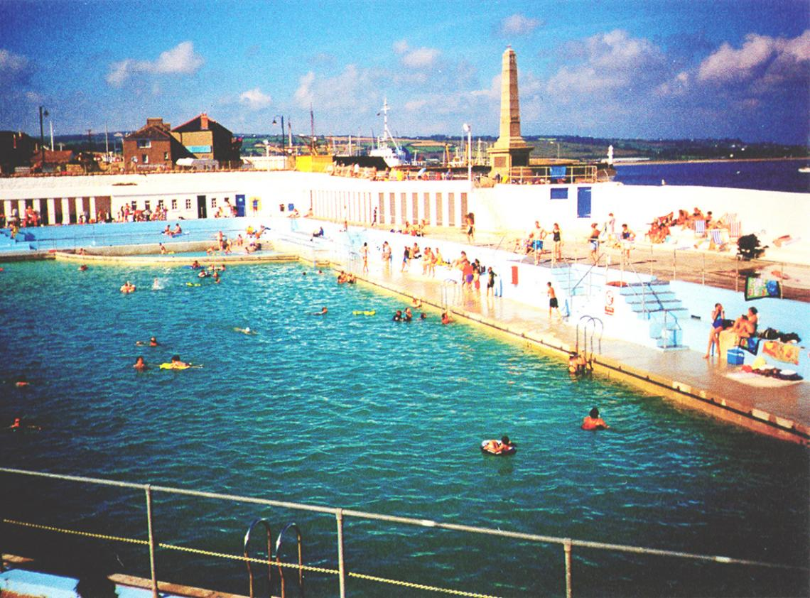 View of Jubilee Pool with the harbour beyond