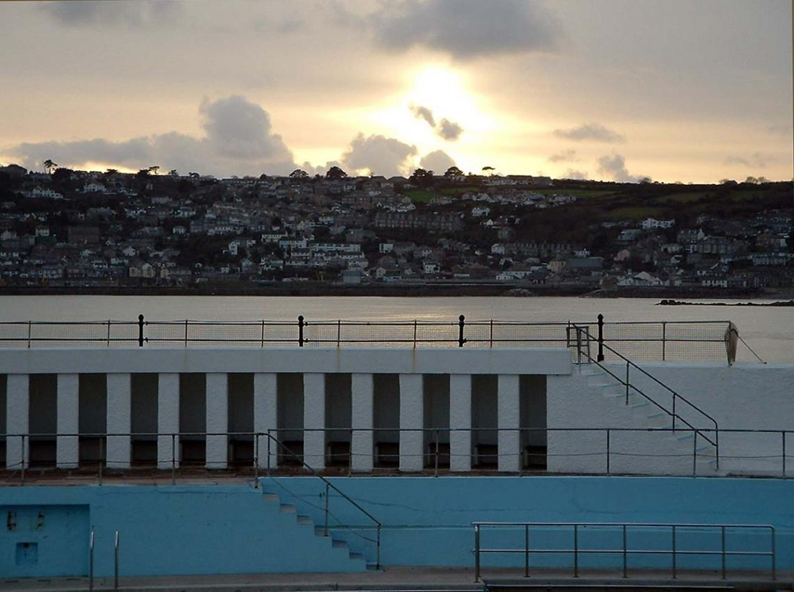 Jubilee Pool and sky, Newlyn in the backround