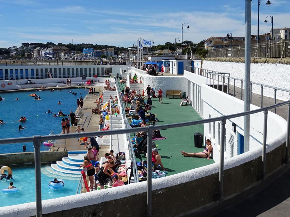 Busy Jubilee Pool