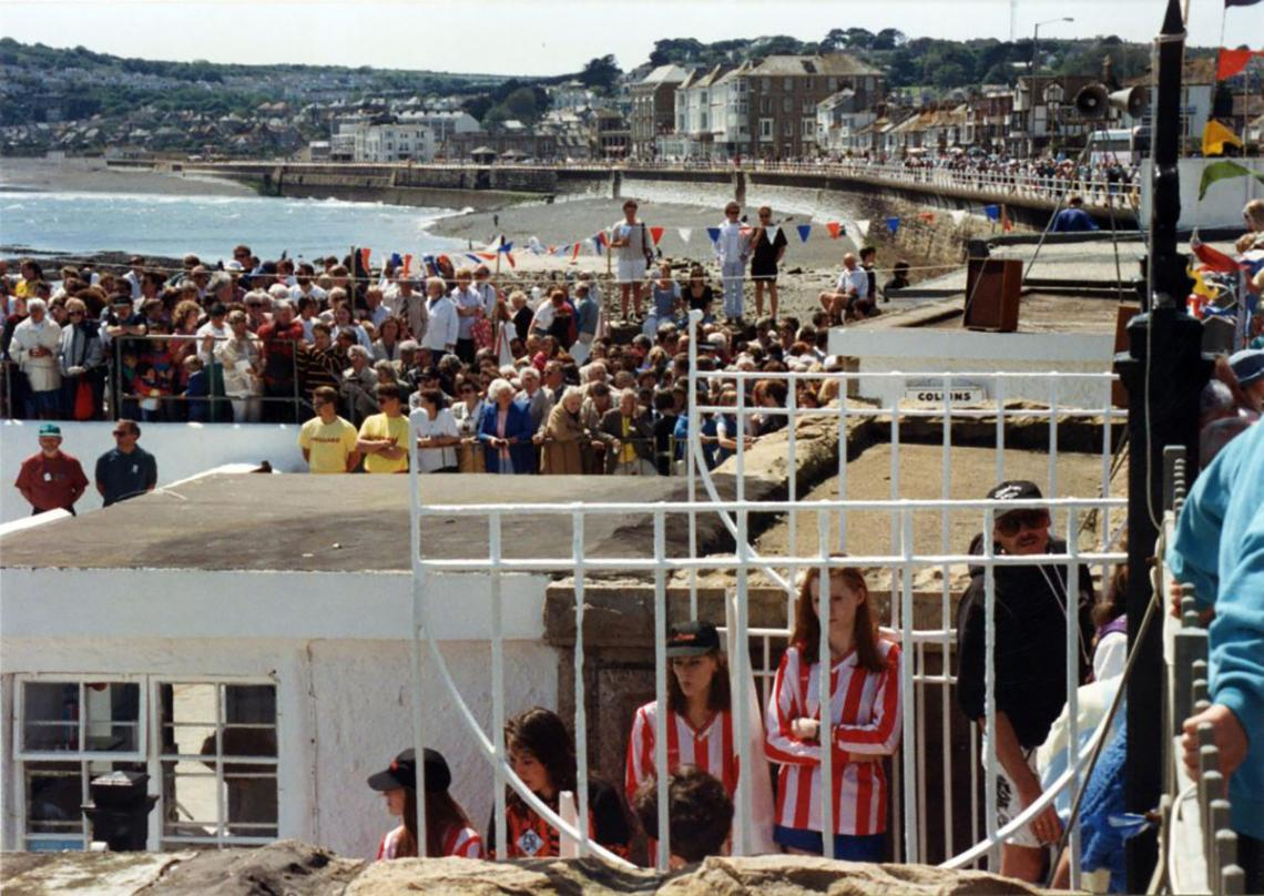 Huge crowds at the 'Grand Re-opening' in 1994