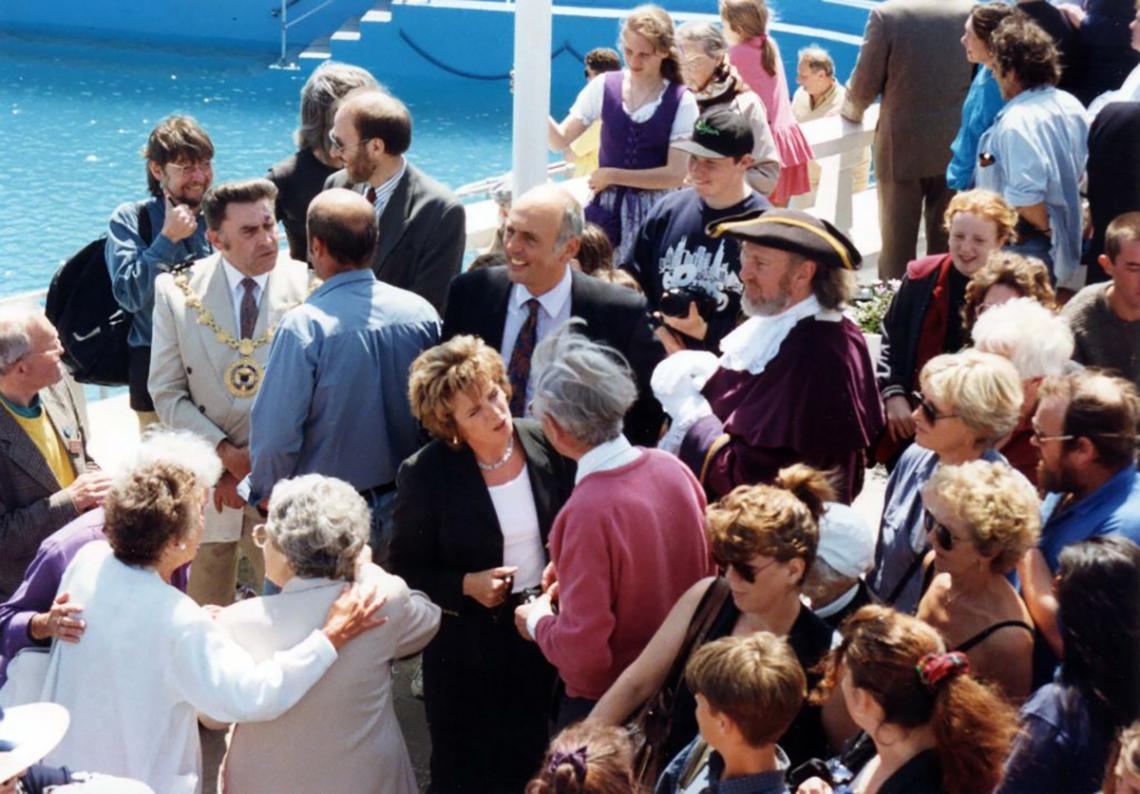 Local dignitaries at 'Grand Re-opening' of 1994 (1 of 2)