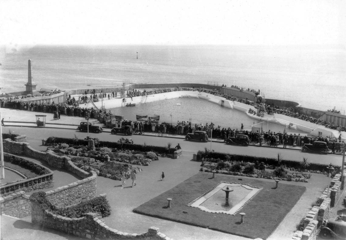 The Jubilee Pool and St Anthony's gardens