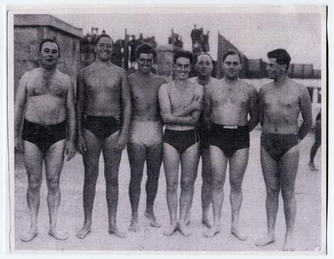 One of the first water polo teams after the war