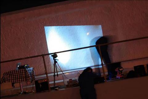 Live art at the pool projections 2