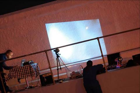 Live art at the pool - projections 3