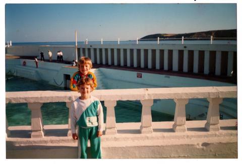 Hannah May, Ben May circa 1988