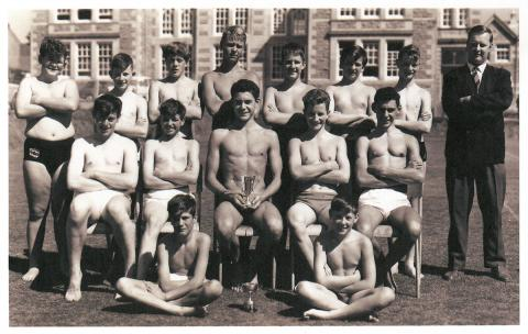 Grammar school swimming team