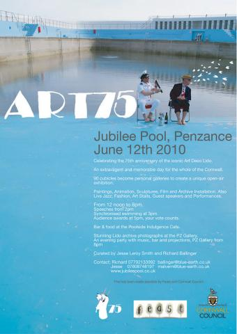 Poster for Art 75 at Jubilee Pool