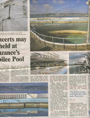 Western Morning News, concerts may be held at the pool