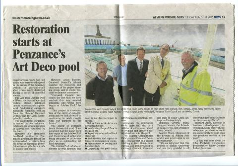 Western Morning News - Restoration Starts at Jubilee Pool
