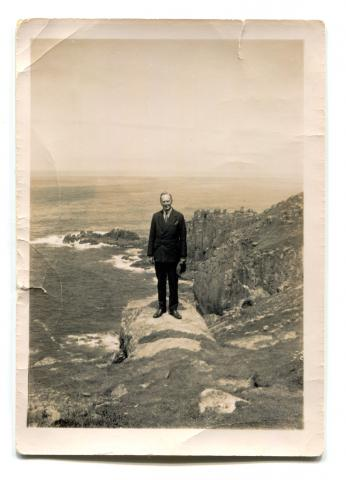 Frank Latham at Land's End