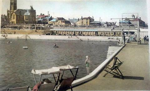 Jubilee Pool with deckchairs