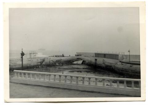 Storm damage, Jubilee Pool, 1962