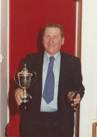 Ken Jilbert with cups