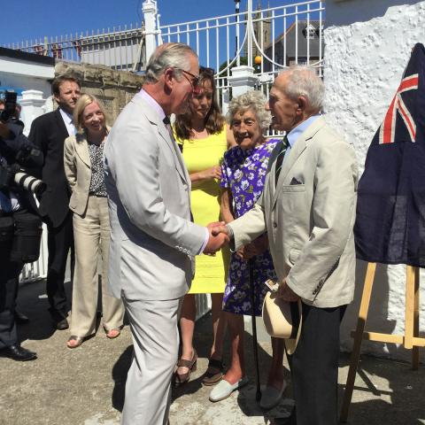 Prince Charles meets Arthur Meadows