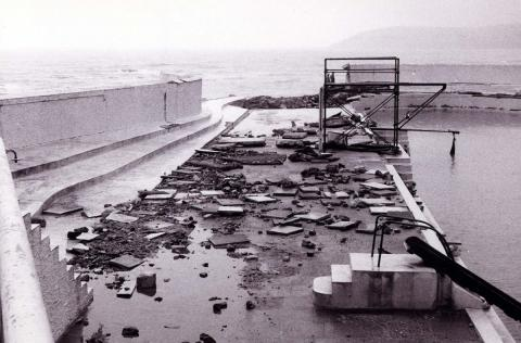 Ash Wednesday Storm: the terrace