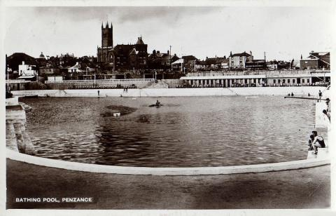 Jubilee Pool with church in the background