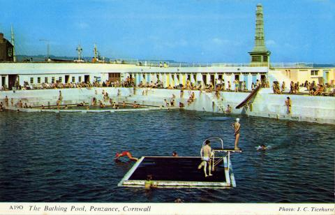 Jubilee Pool with raft and swimmers