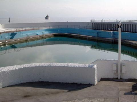 Jubilee Pool and open sea