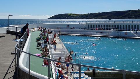 Jubilee Pool sparkles