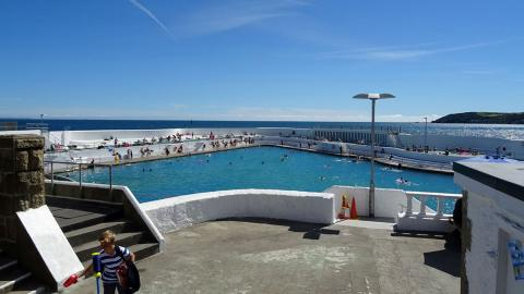 Wide shot of the Jubilee Pool