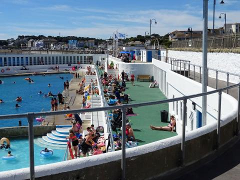 Busy Jubilee Pool