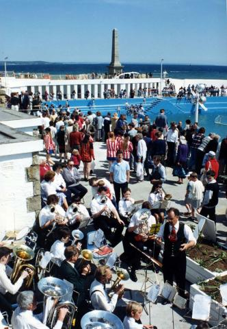 Band at 'Grand Re-opening' of Jubilee Pool in 1994