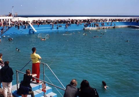 Water polo game at 'Grand Re-opening' of 1994 (1 of 2)