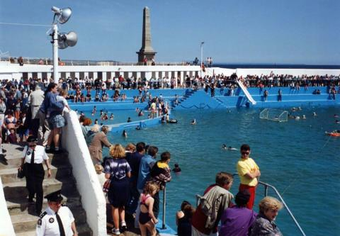 Water polo game at 'Grand Re-opening' of 1994 (2 of 2)