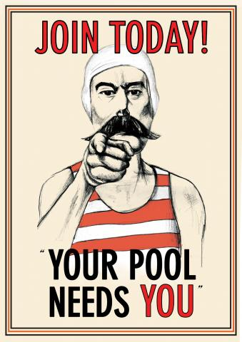 Poster for the Friends campaign to save the Jubilee Pool in 2007