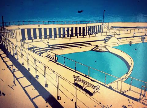 Drawing of the Jubilee Pool walkways