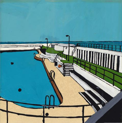 Painting of the Jubilee Pool walkways