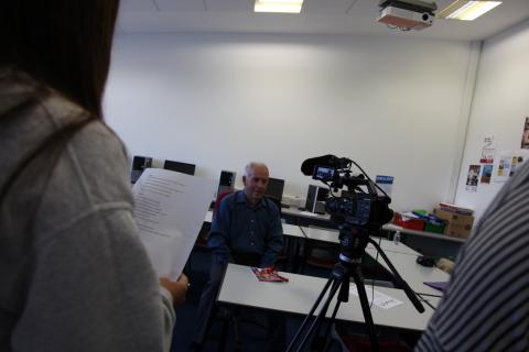 Interviewing with Penwith College students